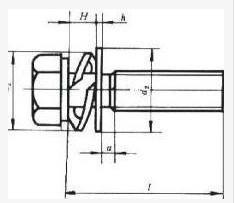 外六角组合螺钉尺寸图 深圳创固组合螺丝